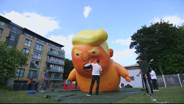 UK protesters again plan to mock Trump visit with big orange balloon