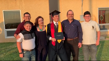 Garden City High School senior receives graduation surprise