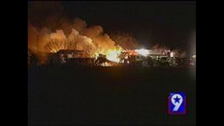 Midland County Fire Demolishes Mobile Home