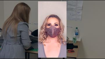 Bridal shop owner uses skills to make medical-grade masks