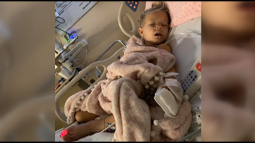 Parents recount harrowing day when their three-year-old daughter was bit four times by a rattlesnake