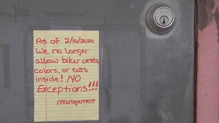 No biker vests at Your Place bar