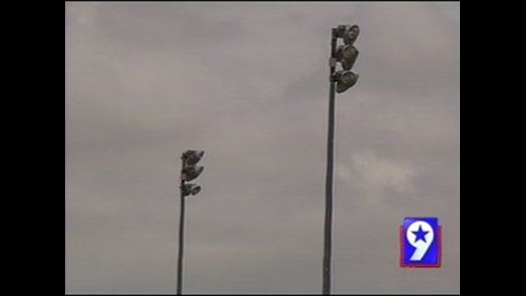 Lights at Beal Park in Midland Not on Light Pole Recall List