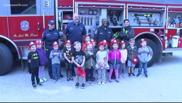 Odessa firefighters visit students for Fire Prevention Month