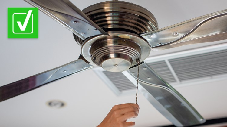 Yes, your ceiling fan should spin counterclockwise if you want to feel cooler