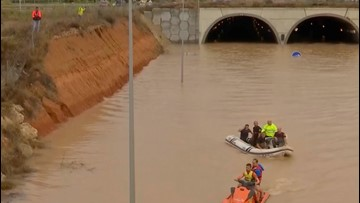 Man Rescued From Flooded Tunnel As Spain Rains Leaves Three Dead
