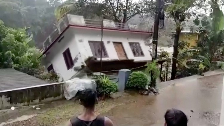 This Is the Moment an Entire House Was Swept Away by Flood Waters