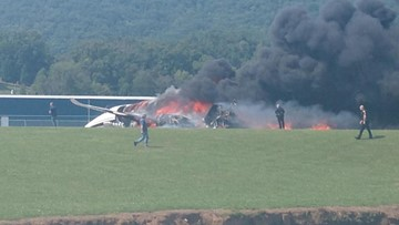 Dale Earnhardt Jr injured in plane crash in Elizabethton