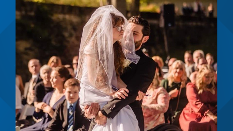 One couple's wedding day goes viral after groom carries sister-in-law down the aisle