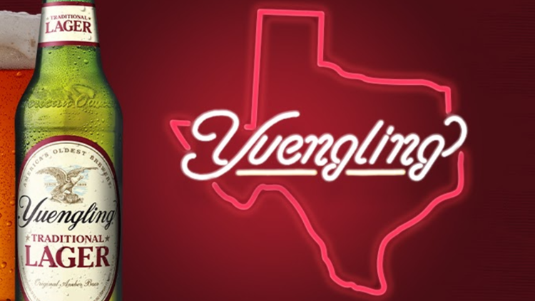 Here's when you'll be able to buy Yuengling in Texas, after beer company's historic westward expansion