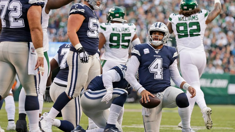 Dak Prescott vs Jets kneeling