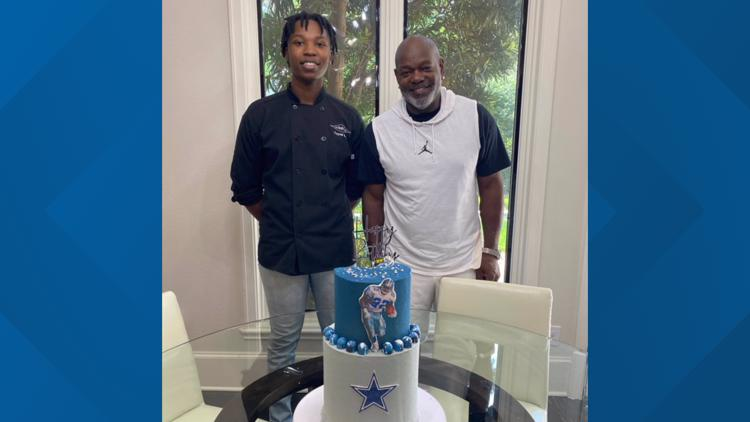 Dallas Cowboys legend requests birthday cake from 20-year-old local pastry chef