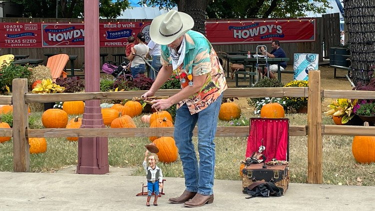 He's no Big Tex, but a 17-inch cowboy is turning heads at the State Fair of Texas