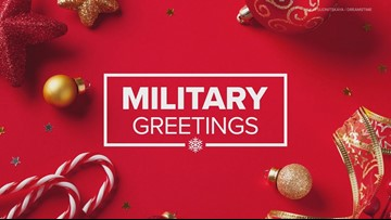 Holiday greetings from U.S. military members