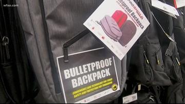 Bulletproof backpacks hit Dallas school supply shelves