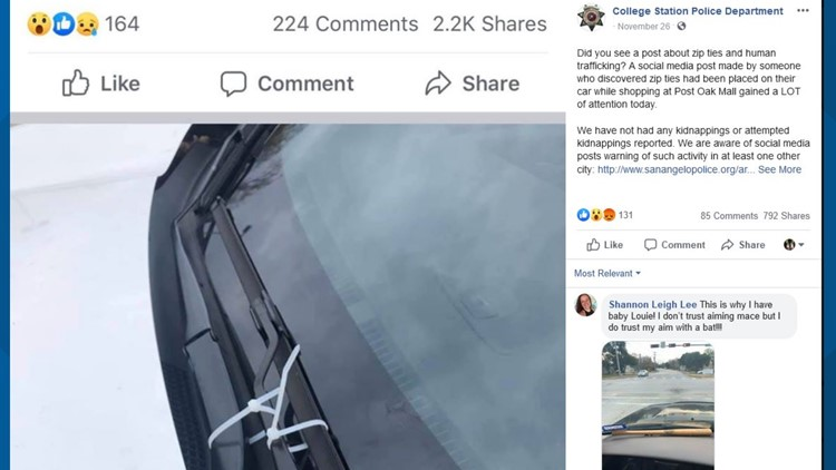 VERIFY: Is that viral post about windshield wipers tied by human traffickers true?