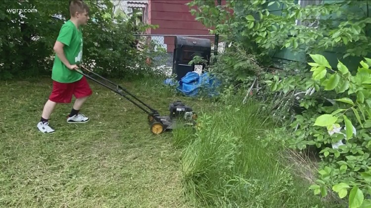 'Lawn Kid' mowing 50 yards for 50 veterans to honor his grandfather