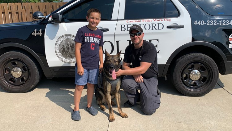 Northeast Ohio boy raises money to buy more than 200 bullet-proof vests for police dogs