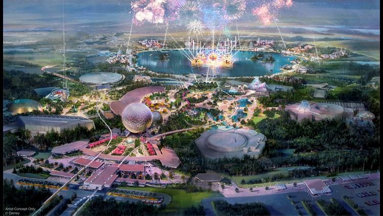 Disney World Epcot transformation August 2019 rendering