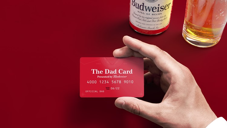 Budweiser selling limited number of 'Dad Cards' for year's worth of beer money