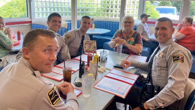Troopers take woman to lunch after she ran out of gas on the interstate